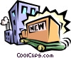 Vector Clipart illustration  of a new products