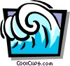 Vector Clipart graphic  of a waves
