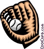 Vector Clip Art picture  of a baseball glove