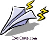 Vector Clipart image  of a paper airplane