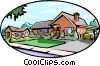 Vector Clipart image  of a landscapes
