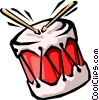 Vector Clip Art picture  of a drums