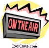 Vector Clip Art image  of a on-air monitor