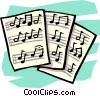 Sheet music Vector Clipart picture