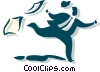 Vector Clipart image  of a man running