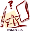 Vector Clip Art graphic  of a business/confusion