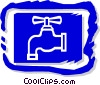 Vector Clip Art graphic  of a tap