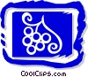 grapes on the vine Vector Clipart picture