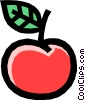 Apple with leaf Vector Clipart picture