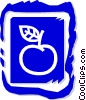 Vector Clipart graphic  of an apple