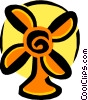 Vector Clip Art graphic  of a fan