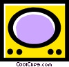 Vector Clip Art picture  of a television