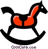 Vector Clipart picture  of a rocking horse