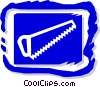 Vector Clip Art image  of a saw