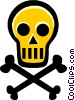 skull and crossbones Vector Clipart picture