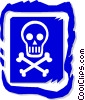 Vector Clipart graphic  of a skull and crossbones