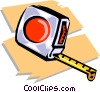 tape measure Vector Clipart graphic
