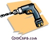 Vector Clipart illustration  of a drill