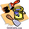 Vector Clipart image  of a paint with brush
