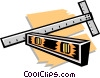 t-square and level Vector Clip Art graphic