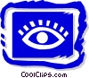 Vector Clip Art image  of a eye