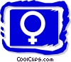 female symbol Vector Clipart graphic