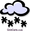 Vector Clipart image  of a snowing