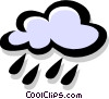 Vector Clip Art graphic  of a raining