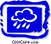 Rain and clouds Vector Clipart picture