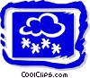 Clouds and snow Vector Clipart illustration