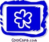 Vector Clipart illustration  of a three leaf clover