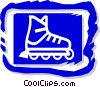 Vector Clip Art graphic  of a roller blade