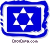 Star of David motif Vector Clipart illustration
