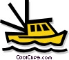 Vector Clipart graphic  of a fishing boat