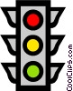 Vector Clipart image  of a traffic light