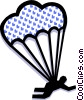 parachute Vector Clip Art graphic