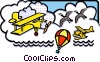 Vector Clipart graphic  of a flying