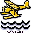 Vector Clip Art image  of a Float plane