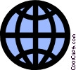 World globe Vector Clipart image