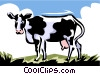 Vector Clipart image  of a cow