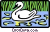 Vector Clip Art graphic  of a swan