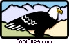 Vector Clipart graphic  of a eagle