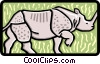 rhino Vector Clip Art graphic