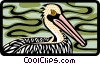 Vector Clip Art image  of a pelican