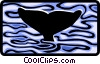 Vector Clip Art image  of a whale diving