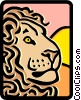Vector Clipart graphic  of a lion