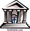 Vector Clipart illustration  of a courthouse or bank building