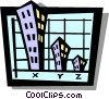 business graph Vector Clip Art image