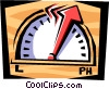 Vector Clip Art image  of a elevator floor indicator