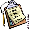 Clipboard with pencil Vector Clipart graphic